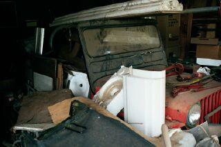 48 Willys Jeep buried in Dads shop Waiting for me