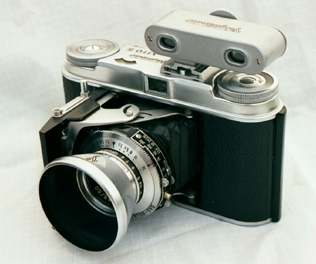 Voigtlander Vito II dressed with hood and rangefinder